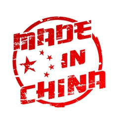 Made in China Stamp vector image