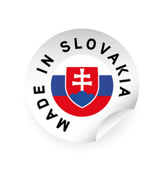 Made in slovakia flag sticker vector