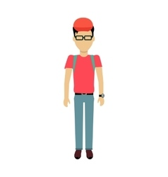 Man Character Template vector image