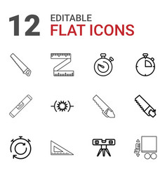 measure icons vector image