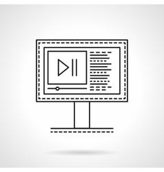 Media blog flat line icon vector image