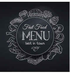 menu template fast food vector image