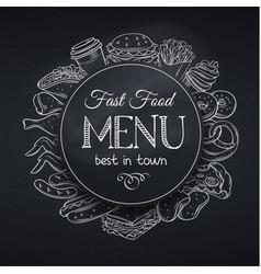 Menu template fast food vector