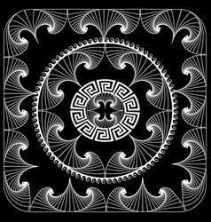 modern geometric line art tracery greek mandala vector image