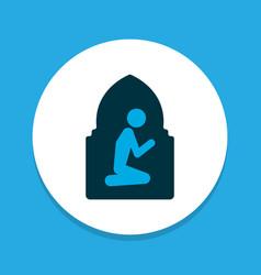 Namaz room icon colored symbol premium quality vector