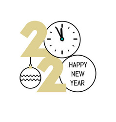 new year gold 2020 number design vector image