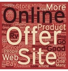 Online Web Stores What Do They Offer text vector image