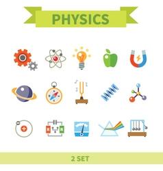 Physics flat con set vector