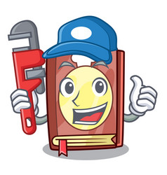 Plumber recipe book on the mascot shelf vector