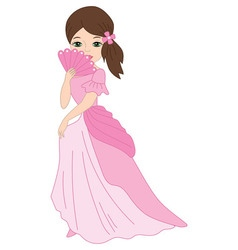 Princess with Fan vector image