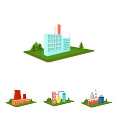 Processing factorymetallurgical plant factory vector