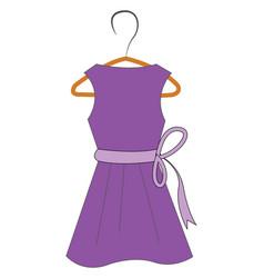 Purple dress on hanger vector