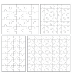 Puzzle set 20 24 49 120 pieces vector image