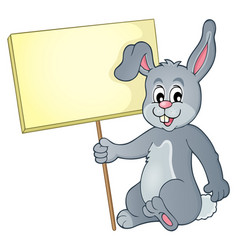 Rabbit with sign theme image 1 vector