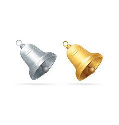 realistic detailed 3d different bell set vector image