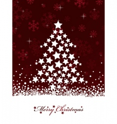 red Christmas vector image