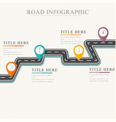 road way location infographic template road on a vector image