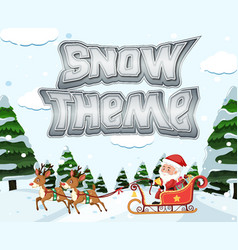 santa riding sleigh in winter vector image