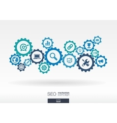 Seo mechanism concept abstract background vector