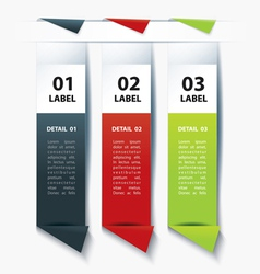 Set of Colorful label paper tags vector image