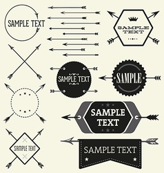 Set of vintage styled design Hipster logo vector