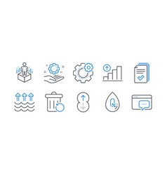 set science icons such as no alcohol vector image
