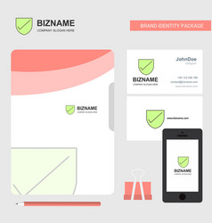 Sheild business logo file cover visiting card and vector