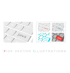 Software concepts buttons vector