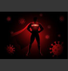 Superhero as antibody against viruses vector