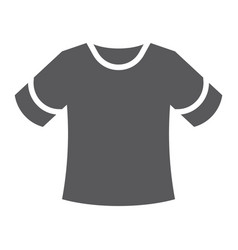 t-shirt glyph icon clothing and fashion shirt vector image