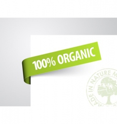 Tag for organic item vector
