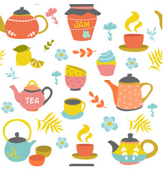 Tea ceremony seamless pattern vector
