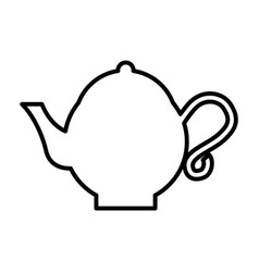 teapot asian isolated icon vector image