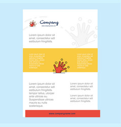 template layout for magical hands comany profile vector image