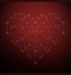 the geometric shape of the heart vector image