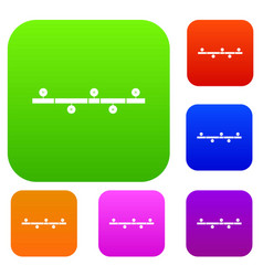 timeline infographic set collection vector image