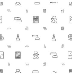 toy icons pattern seamless white background vector image