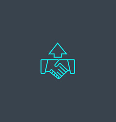 trust building concept blue line icon simple thin vector image