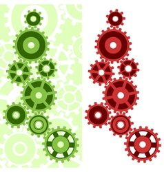 two mechanisms vector image