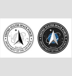 United states space force logo for vector