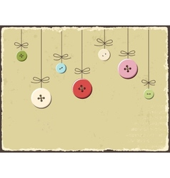Vintage greeting card with buttons vector image