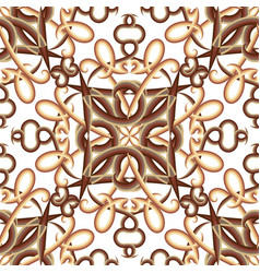 vintage ornamental seamless pattern patterned vector image