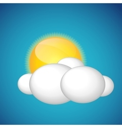 Weather Icons with Sun and Cloud vector