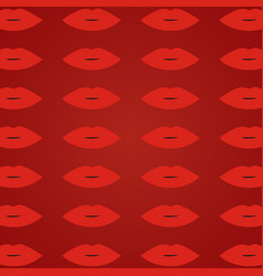 woman lips red background red open lips pattern vector image