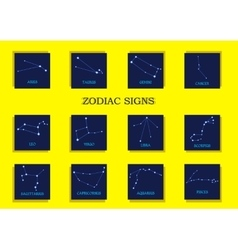 Zodiac signs Horoscope set vector image