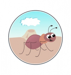 funny ant vector image vector image
