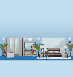 hotel suite in flat style vector image
