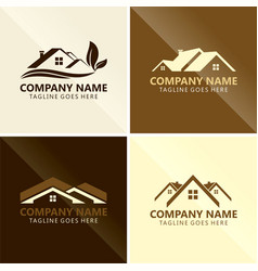 roof house triangle abstract logo vector image