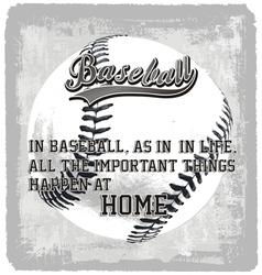 Baseball home vector