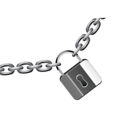 chain and padlock vector image